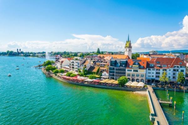Flug nach Friedrichshafen und Bodensee