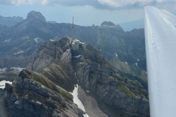 Alpenrundflug zum Säntis, Churfirsten / Walensee, Amden, Rheinfall