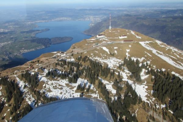 Rundflug am Nationalfeiertag 01.08.18: Zürichsee-Mythen-Rigi
