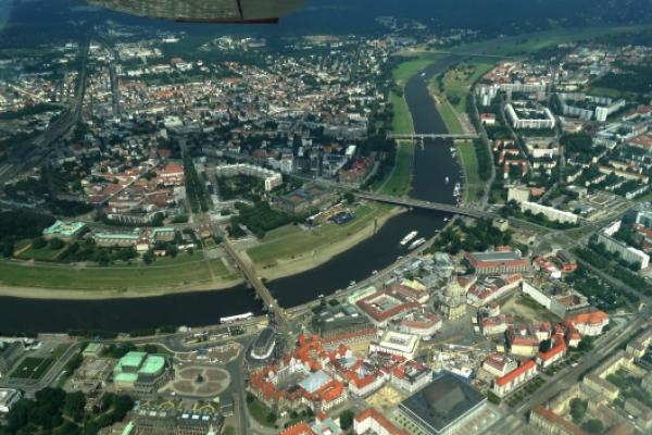 60 Min. Rundflug über Dresden und Sächsische Schweiz