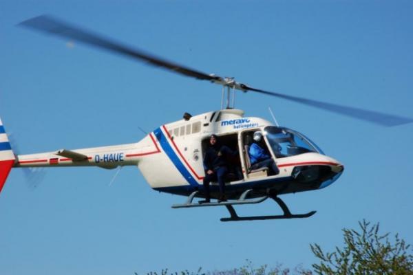 Hubschrauber Burgen und Schlösser Flug