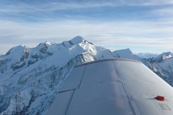 Rundflug ab Birrfeld: Mt. Blanc