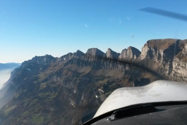 Rundflug ab Birrfeld: Ostschweiz