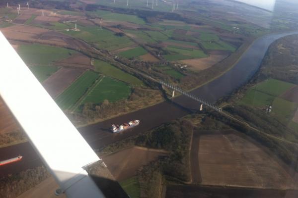 Rundflug über Kiel und Schlei