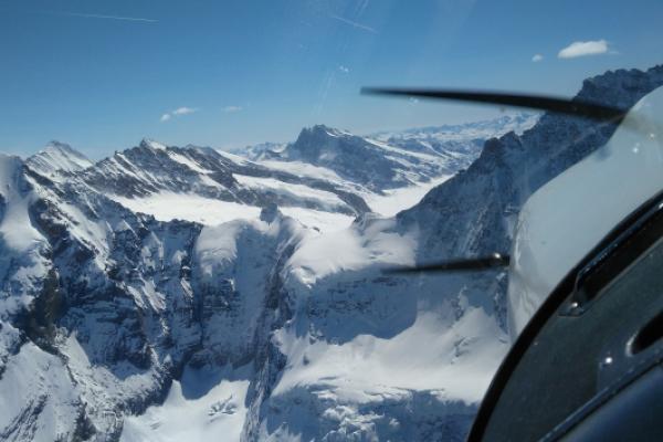 Rundflug ab Birrfeld: Jungfraujoch & Schilthorn