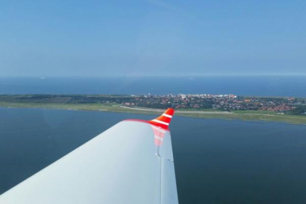 Flug nach Wangerooge