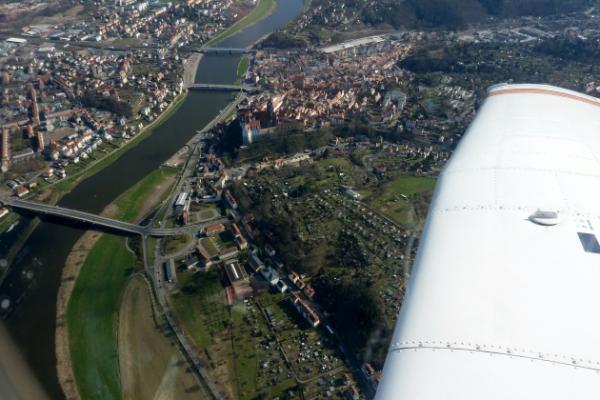 Schnupperflug ab Riesa über Meißen und Moritzburg