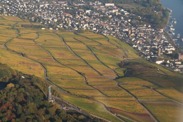 Rhein bei Rüdesheim mit Germania