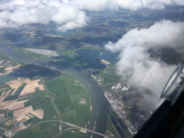 Blick auf den Rhein bei Wesel