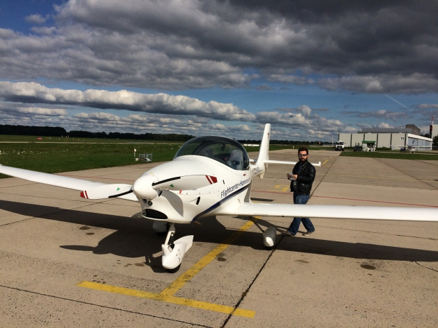 Flugzeug und Pilot