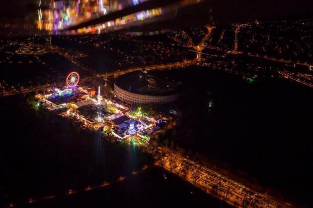 das Nürnberger Volksfest bei Nacht