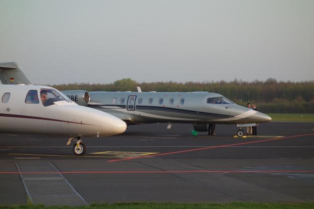 Jets am Flugplatz Frankfurt-Egelsbach