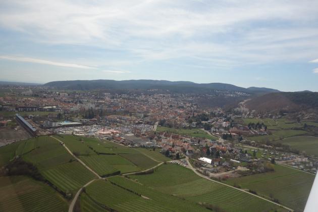 Anflug auf Bad Dürkheim