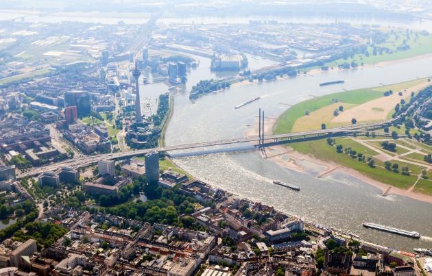 Düsseldorf von oben